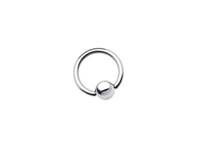 Surgical Steel Captive Bead Ring - 10 Gauge 18mm