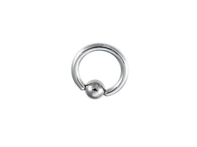 Surgical Steel Captive Bead Ring - 6 Gauge 18mm
