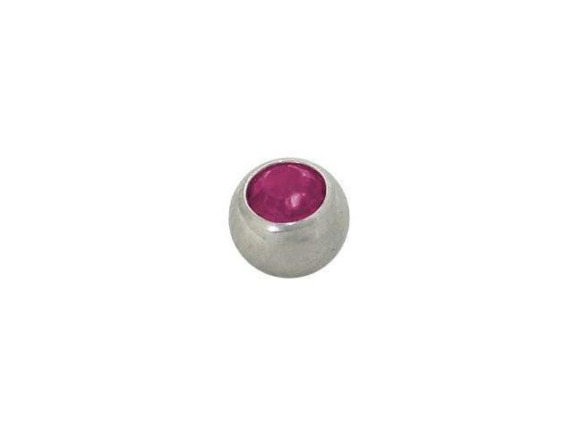 Replacement Bead Surgical Steel Threaded (5mm) with Purple Jewel