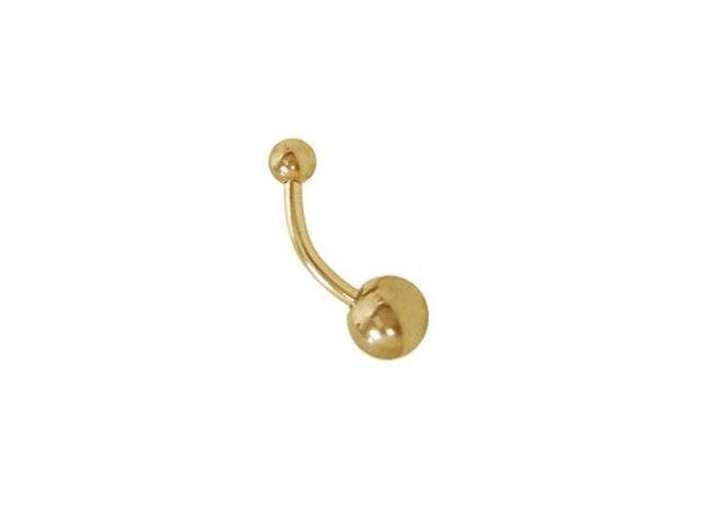 14k Gold Plated Belly Button Ring