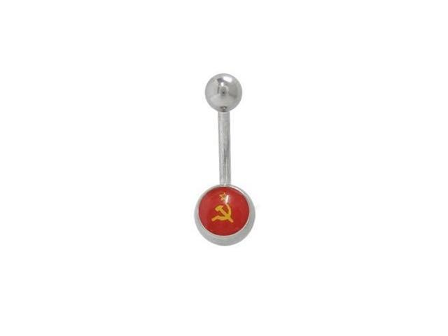 Soviet Union Flag Belly Button Ring