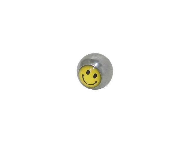 Replacement Bead Surgical Steel Threaded (5mm) with Smiley Face Logo
