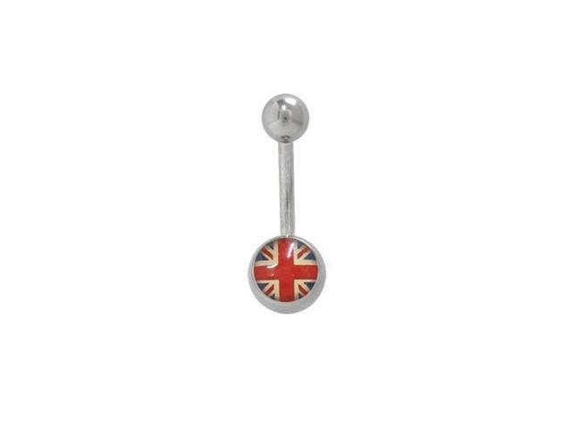 British Flag Belly Button Ring Surgical Steel
