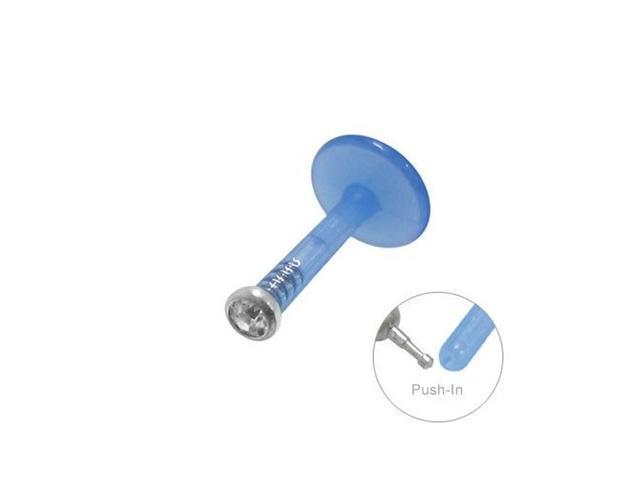 Blue Flexible Labret Monroe with Clear Gem