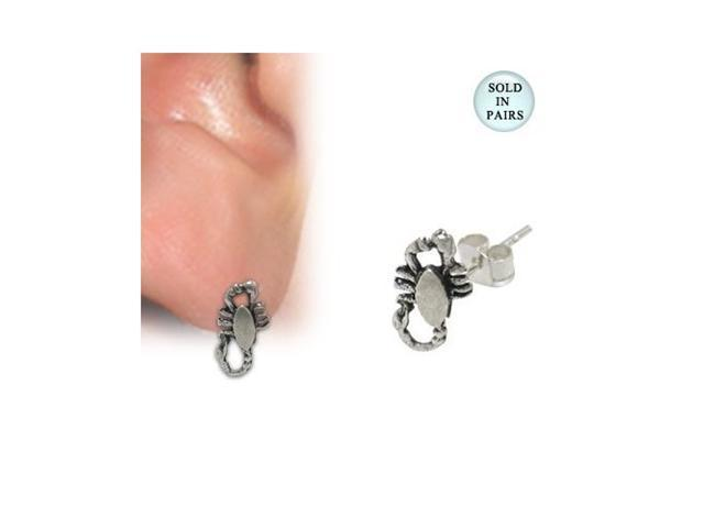 Sterling Silver Scorpion Stud Earrings