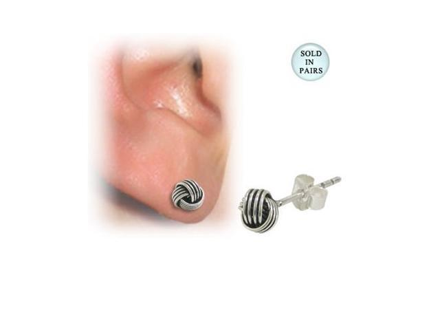 Unique Wire Design Ear Studs Sterling Silver