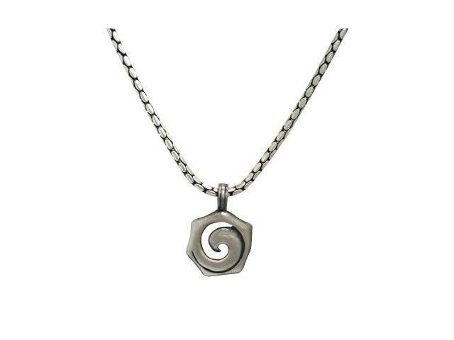 Snake Skin Silver Plated Necklace with Mario Art Pendent