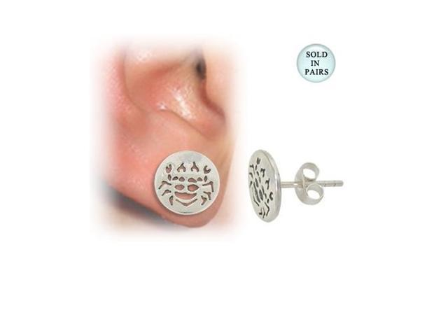 Crab Sterling Silver Ear Studs
