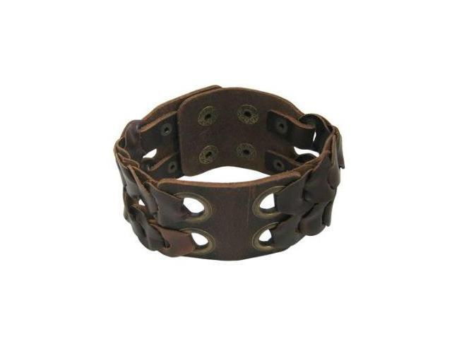 Unique Design Brown Leather Bracele