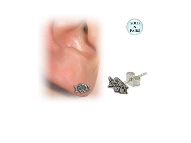Sterling Silver Fish Ear Studs