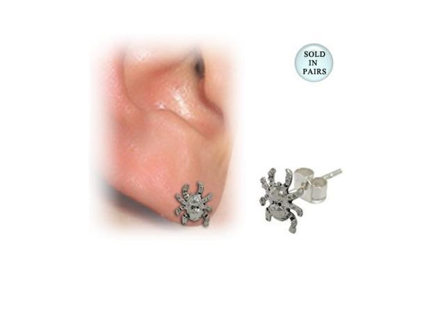 Sterling Silver Spider Ear Studs