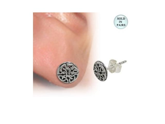 Absract Design Ear Studs .925 Sterling Silver