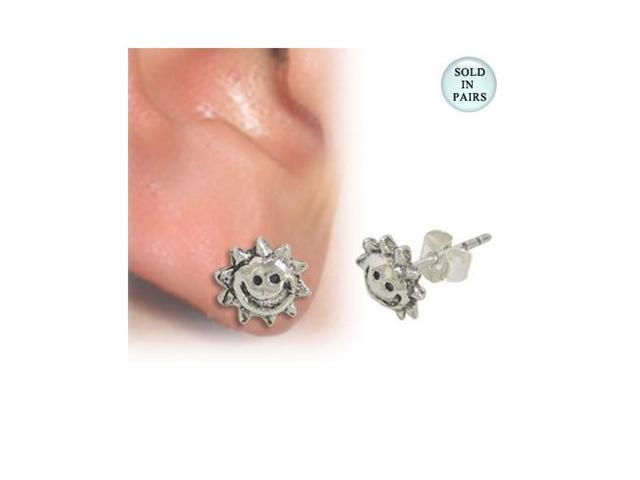 Smiling Sun Ear Studs .925 Sterling Silver