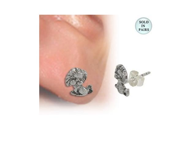 Ear Stud .925 Sterling Silver with Lion Shape Design