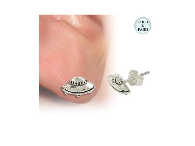 UFO Ear Studs .925 Sterling Silver