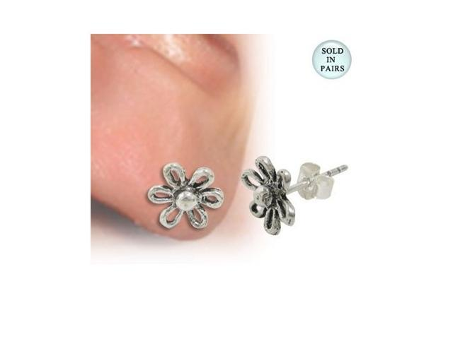 Ear Studs .925 Sterling Silver with Flower Design