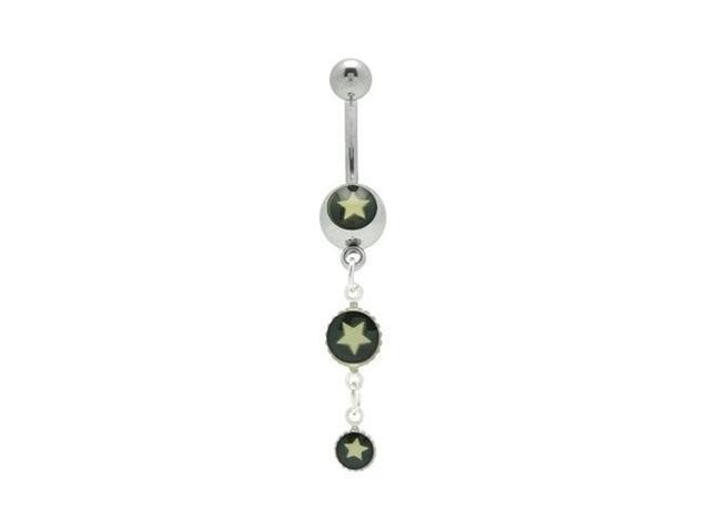 Star Logo Dangle Belly Button Ring