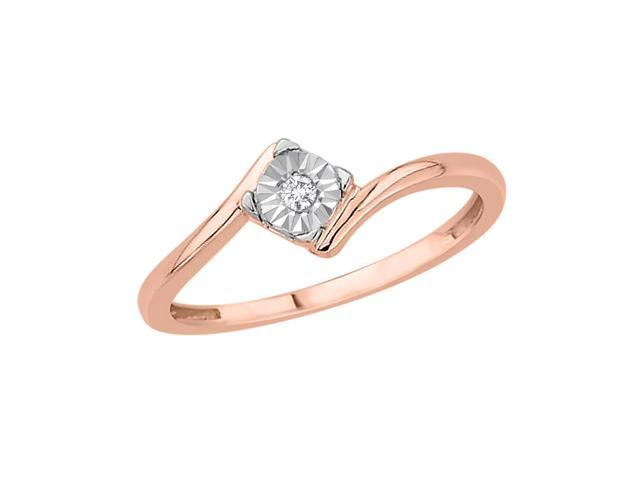 accent promise ring in 14k pink gold size 4