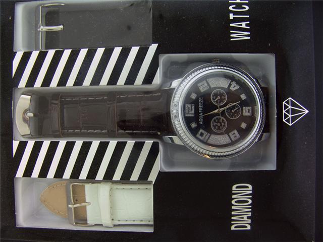 New Aqua Freeze By KM 50MM Case 2 Diamonds Watch