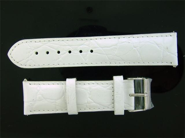Techno com by KC white 22MM Wide Genuine Leather band.