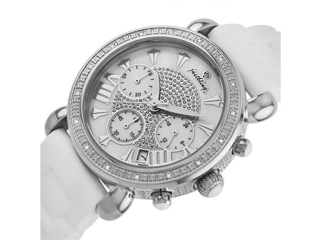 New Just Bling 0.20CT Diamonds watch JB-6242-B White