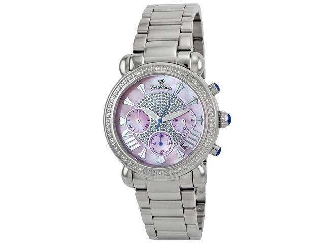 Justbling Stainless Steel Round 16 diamond JB-6210-F