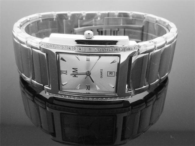 King Master 40 Diamonds 38mm/32mm Stainless steel watch