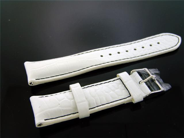 New Techno Com by Kc 22MM wide White Black Stitch band.