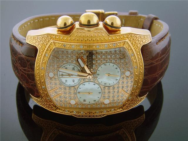 New Aqua Master Rose Gold 1 Row 20 Diamonds watch
