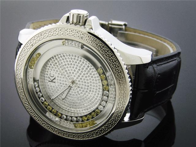 Techno Com by KC 53 MM 0.15CT Diamond Watch Silver Face