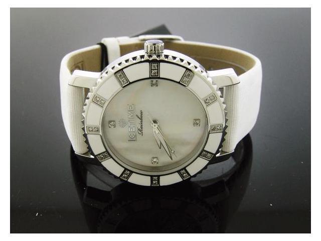Ladies Icetime 36mm Round 0.40CT Diamond White watch