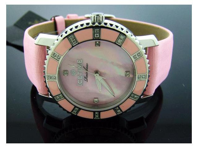 Ladies Icetime 36mm Round 0.40CT Diamond Pink watch