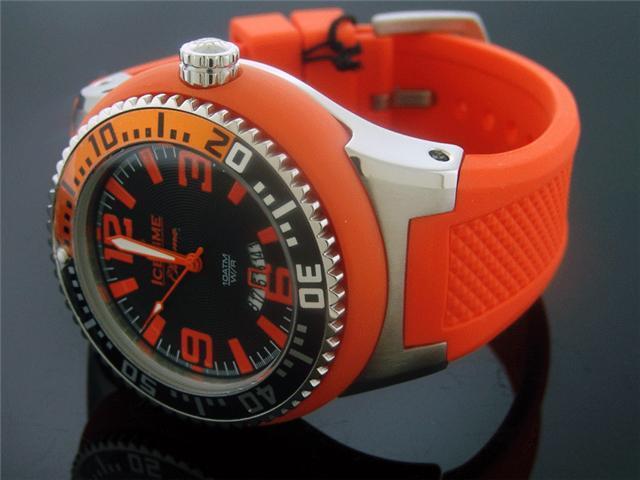 IceTime Chroma 54MM Round Stainless steel Orange Watch