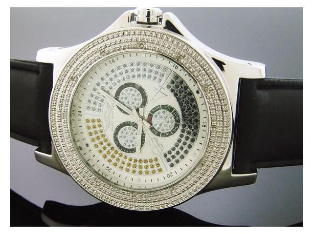 Men's King Master 47MM Round 12 Diamond watch