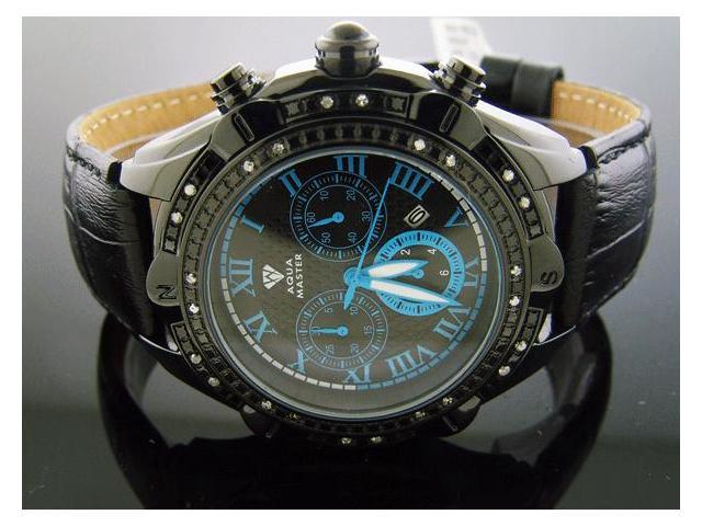 Men's Aqua Master 45MM 24 Big Diamonds Black Case 311