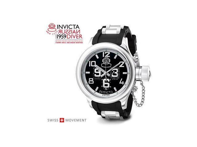 Invicta Russian Diver Chronograph Black Rubber 4578