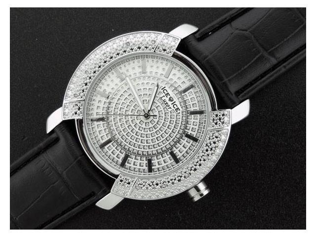 Ice Ice By Icetime 47 MM 10 Diamond Silver Face Watch