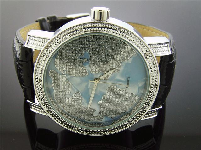 Ice Ice By Icetime 50M 0.10CT Diamonds World Face watch