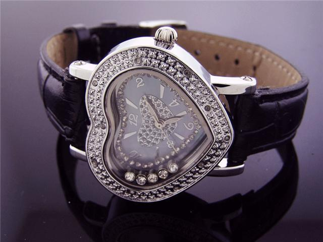 Ice Ice Heart By Icetime 10 Diamond Watch W/ Extra Band
