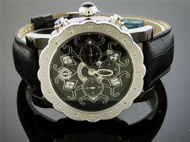 New Techno Watch 16 Diamonds Stainless steel 47MM Watch