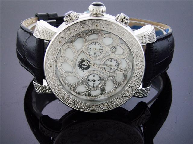 New Techno Watch 20 Diamonds Stainless steel 46MM Watch