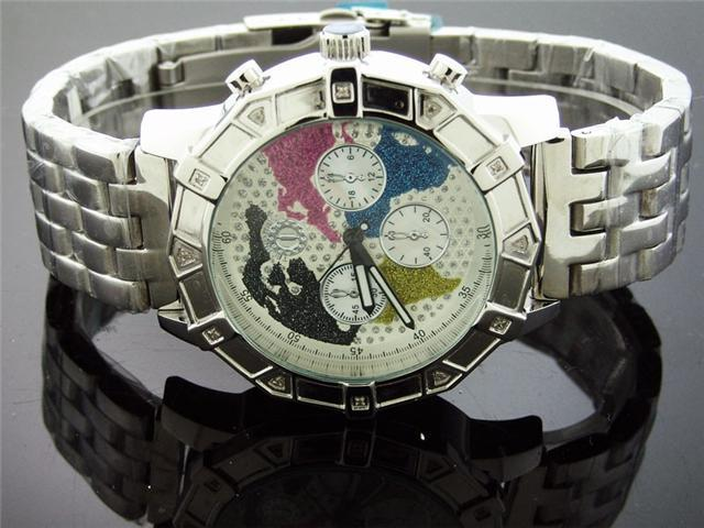 New Techno Watch 12 Diamond Stainless steel 47MM Watch
