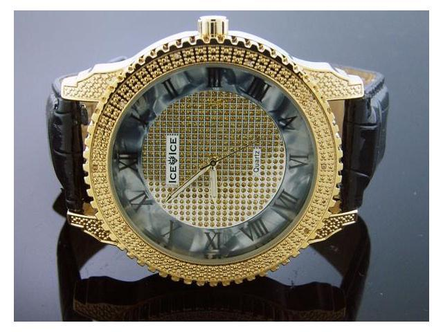 Ice Ice By Icetime 52 MM 10 Diamonds Yellow Gold Watch