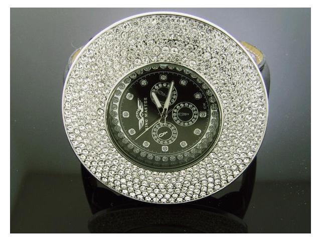 Men's King Master JUMBO 60MM Bezel W/ 12 Diamond Watch