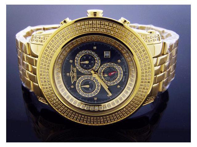 New king Master Round 3.02CT Diamonds 50MM YG Watch