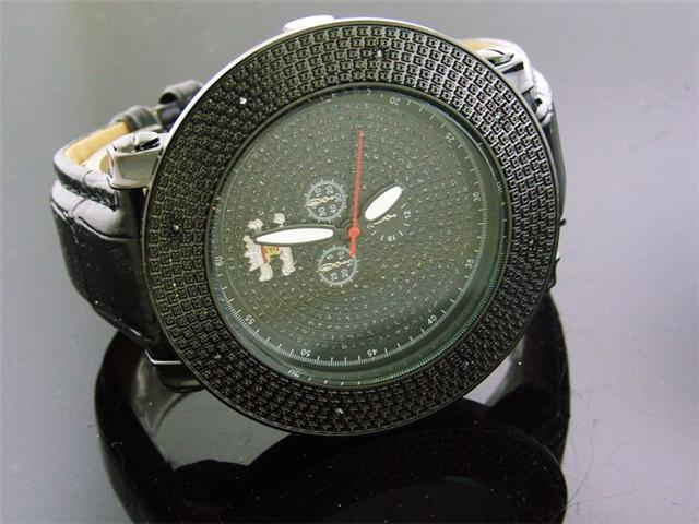 Mens Techno Royale JUMBO 57MM Bezel W/ 8 Diamonds Watch