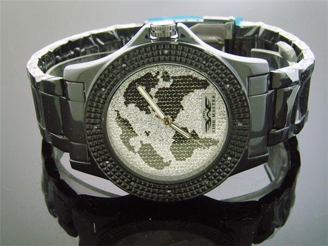 New King Master Round 12 Diamond 52 M Silver Face Watch
