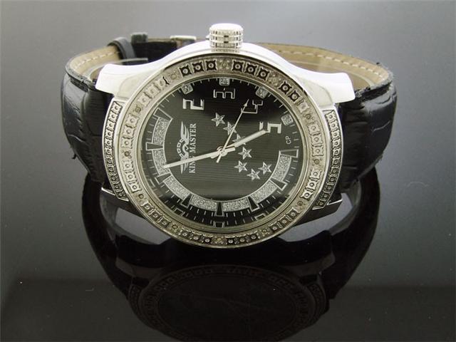 Men's King Master 50MM Round 12 Diamond watch