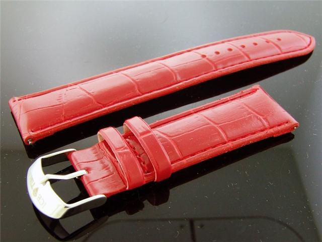 Icetime Genuine leather band Single pin 22 MM RED
