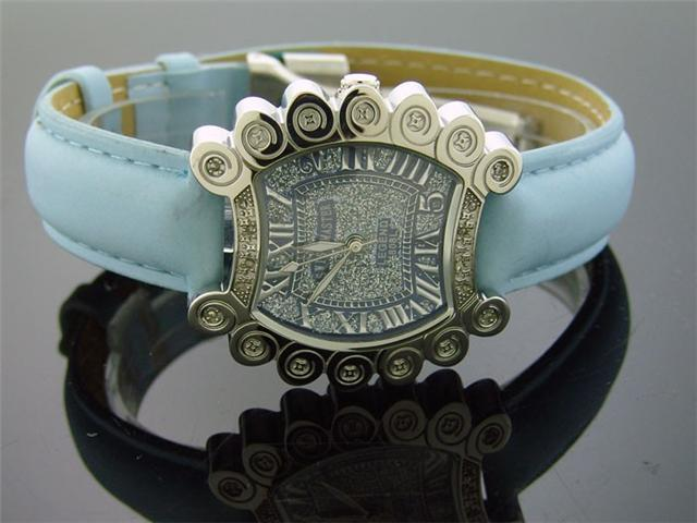 New Ladies 34mm Swiss Master by KM 12 Diamonds Watch